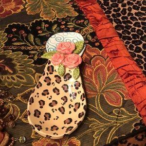 ClaybiZ by Jeannie Kitchen - Gorgeous Leopard/Rose Soonrest!